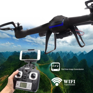 DM007W WIFI 6-Axis Gyroscope Real-time 2.4Ghz RC Quadcopter Drone with HD Camera - Black