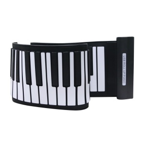 MIDI Keyboard Silicone Flexible Roll Up USB Electronic Piano with 61 Keys