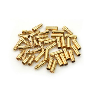 20 Pairs 3.5mm Gold Plated Bullet Banana Plug Connector (20 Male + 20 Female) for RC Battery