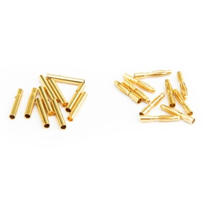 10 Paia Connettore A Banana A Banana Placcato Color Oro 2,0mm (10 Maschi + 10 Femmine) Per Batteria RC