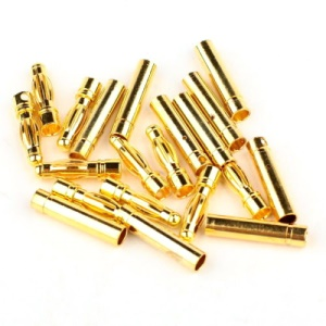 10 Pairs 4.0mm Gold Plated Bullet Banana Plug Connector (10 Male + 10 Female) for RC Battery