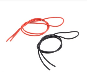 One Pair 14 AWG 14 Gauge Flexible Silicone Wires Silicon Cables (1M Red + 1M Black)