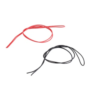 One Pair 18 AWG / 18 Gauge Silicone Wires Silicon Cables (1m Red + 1m Black)