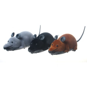 Funny Wireless Remote Control Flocking Mouse Tricky Toy for Cats Dogs Pets Kids - Grey