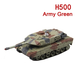 HUANQI H500 Infrared Fighting RC Battle Tank Toy with Sound and Life Indicator - Army Green