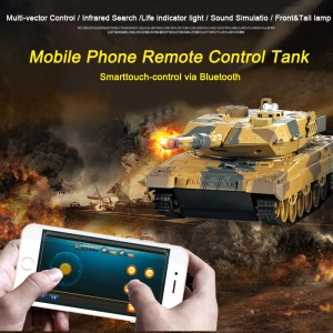 HUANQI H500 Infrared Remote Control Fighting RC Battle Tank Toy with Sound and Life Indicator - Khaki