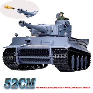 HENGLONG 3818-1 2.4G RC German Tiger I Battle Remote Control Tank with Smoke and Sound - EU Plug