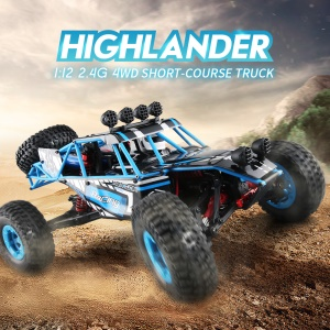JJRC Q39 1:12 2.4G 4WD 40KM/H Highlander Short-Course Truck RC Car - US Plug