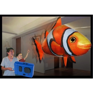 Air Swimmers Remote Control Inflatable Flying fish Indoor Toy - Clownfish