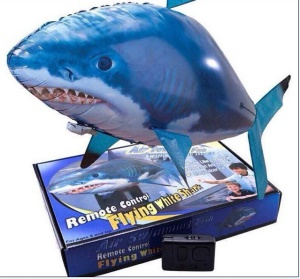 Air Swimmers Remote Control Inflatable Flying fish Indoor Toy - Shark