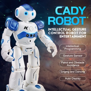 JJRC R2 USB Charging Dancing Robot Gesture Control RC Robot Toy Birthday Gift for Children - Blue
