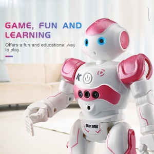 JJRC R2 Gesture Control Dancing Robot USB Charging RC Robot Toy Birthday Gift for Kids - Red