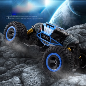 1:8 Scale Double-sided 2.4GHz RC Stunt Car One Key Transformation All-terrain Vehicle Climbing Car - Blue