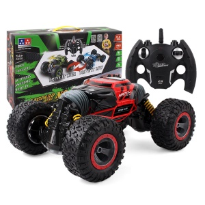 1:10 Scale 2.4GHz Remote Control Double-sided Stunt Car Deformation Vehicle Rock Crawler Monster Truck - Red