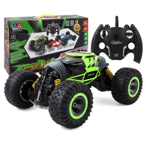 1:10 Scale Double-sided 2.4GHz RC Stunt Car Deformation Off-Road Vehicle Rally Car - Green