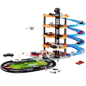 3D Car Parking Lot Assemble Railway Rail Car Toy DIY Track Car Racing Track Toy