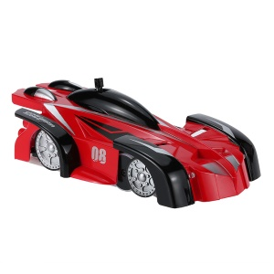 JJRC Q3 4 Channels Anti-gravity Infrared Control Wall Climbing RC Car - Red