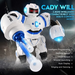 JJRC R3 CADY WILL 2.4G Smart RC Robot Intelligent Combat Robot with Multi-Control Modes - Blue
