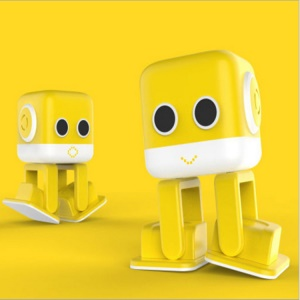 F9 Multi-functional Bluetooth Robot Toy Brain Robot Cube Toy - Yellow