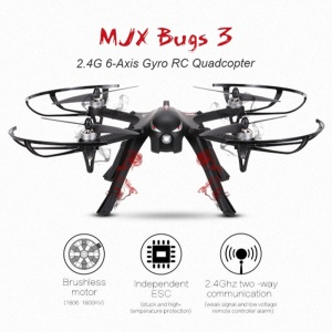 MJX B3 Bugs 3 RC Quadcopter 2.4G 6-Axis Gyro RC Drone with Sports Camera Bracket - US Plug