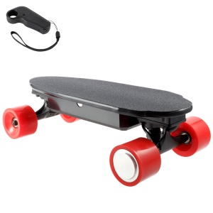 Portable 4400mAh Battery Powered 4-wheel Electric Skateboard Slide Board with Remote Controller - Red / EU Plug