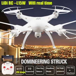 L15W 2.4G 6-Axis Gyro Waterproof RC Drone Quadcopter with WiFi FPV 0.3MP Camera - White