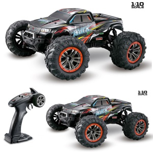 9125 1/10 Skala 2.4ghz Off-Road Truck Allradantrieb High-Speed-RC-Auto - Rot / EU-Stecker