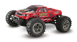 9130 1/16 Scale 2.4GHz Four-wheel Drive High-speed Off-road Truck RC Car - Red/EU Plug