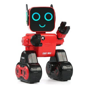 JJRC R4 CADY WILE Money Management Sound Interaction Gesture Sensor Control Kids Preschooler Smart RC Robot - Red