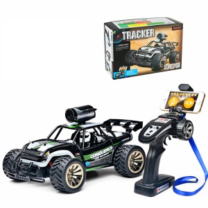 BG1516 High-speed WIFI Real Time Transmission 1:16 2.4G Rock Crawlers Off Road RC Car with 0.3MP Camera - Green