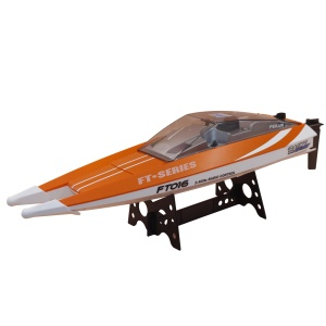 FT016 2.4G Radio Control High Speed Racing Boat with Water Cooling System - Orange