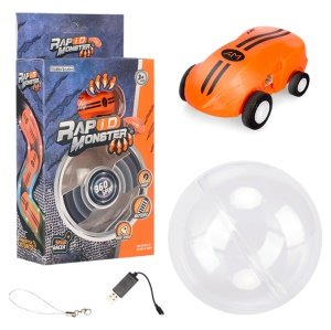 S618 Rapid Monster Mini Stunt Car High Speed 360 Rotation Novelty Toy Car - Orange