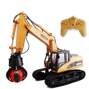 HUINA 1571 2.4GHz 16CH RC Alloy Ball Grabber Engineering Truck 680-degree Rotation