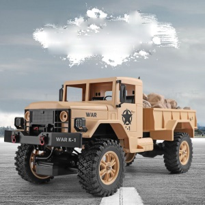 WLTOYS 124301 1:12 2.4Ghz 4WD Off-road RC Military Truck Vehicle RC Car - Brown