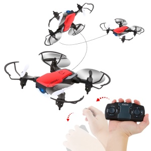 0.3MP Camera Foldable Mini Drone 2.4GHz 4CH WiFi 6 Axis Gyro RC Quadcopter - Red