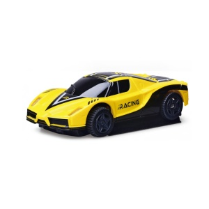 GOLD LIGHT 777-617 Mini 2.4G 4WD Wall Climbing RC Car Toy with LED Light - Yellow