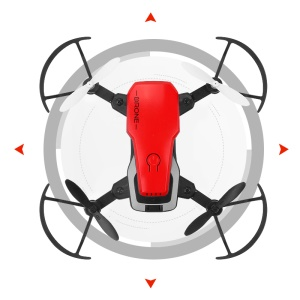 8810 RC Quadcopter 2.4ghz 4CH Wifi 6 Ejes Giroscopio Mini Drone Plegable (sin Cámara) - Rojo