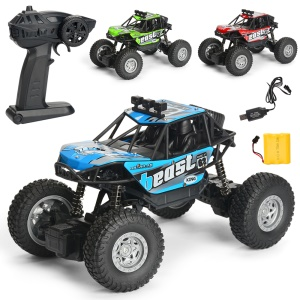 Electric Off-road Remote Control Car 2.4G 1:20 4WD Climbing Car - Blue