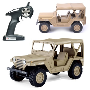 BG1522 2.4G 1:14 Scale 4WD RC High-imitation Off-Road Jeep RC Climbing Car - Khaki