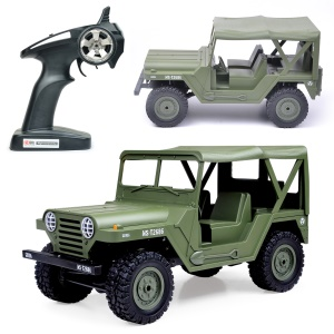 BG1522 1:14 2.4G 4WD Crawler Off-road RC Climbing Car High Speed Vehicle with Headlight - Army Green