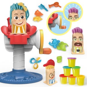 Children's Modeling Clay Toy Creative Barber Shop Toy Set