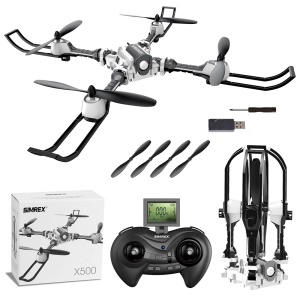 X500 2.4G Foldable Drone RC Quadcopter Altitude Hold 3D Flips 6-Axis Gyro