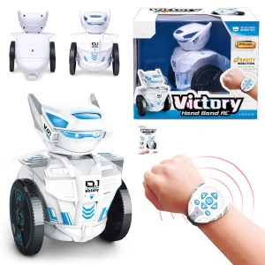 BG1526 Watch-worn Remote Intelligent Robot 2.4G RC Toy with LED Light