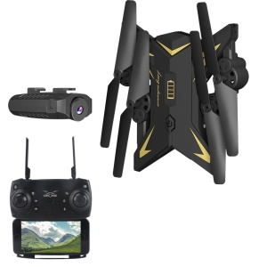 KY601S Foldable Drone Altitude Hold WiFi FPV RC Quadcopter with 1080P 5.0MP Camera - Black