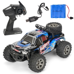 20km/h 1:18 2.4G Remote Control Car RC Electric Monster Truck Off-Road Vehicle - Blue