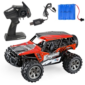 20km/h 1:20 2.4G Remote Racing Car RC Electric Monster Truck Off-Road Vehicle - Red