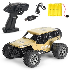20km/h 1:18 2.4G Remote Racing Car RC Electric Monster Truck Off-Road Vehicle YL-16 - Gold