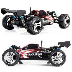 WLTOYS A959 High Speed ??1:18 Scale RTR Racing 2.4 G 4WD Electric Power Buggy - Vermelho / UE Plug