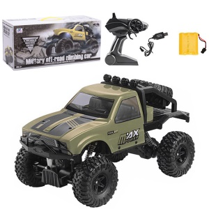 1:16 2.4G Remote Racing Car Off-Road Vehicle RC Electric Monster Truck - Green/Tyre on Rear