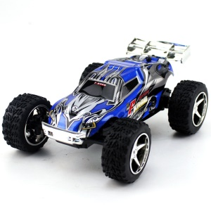 WLTOYS L929 1:28 Brush Electric RC Car 2.4G Mini 50KM/H High Speed RC Buggy Car - Blue